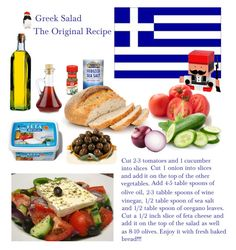 """""""Greek Salad: The original recipe"""" by dezaval ❤ liked on Polyvore featuring interior, interiors, interior design, home, home decor and interior decorating"""
