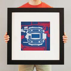 Gillette Stadium print by City Prints Map Art