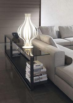 Console table / rectangular / contemporary / bronze WILLIAMS Minotti