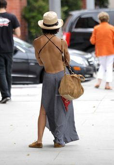Zoe Kravitz goes shopping in a backless dress in Beverly Hills 7/5