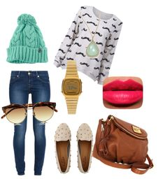 """""""Casual Mustache"""" by prettykariii ❤ liked on Polyvore"""