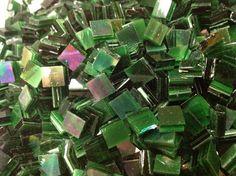IRIDIZED DARK GREEN  Irid Stained Glass by StainedGlassLizard, $3.95