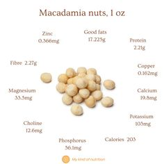 Nuts and seeds are very healthy, despite their calories. Eat a handful of nuts and seeds for a nutritious, satiating snack that won't spike your blood sugar levels. Eat unsalted, raw or lightly roasted nuts for best results. #Macadamia nuts #macadamia nuts nutrition #nutsandseeds #healthysnack #superfood #lowcalorie #nuts Plant Based Eating, Plant Based Diet, Plant Based Recipes, Healthy Fats, Healthy Snacks, Healthy Eating, What Are Whole Foods, Roasted Nuts, Fatty Fish