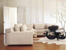 Simpatico Corner Sectional shown with Eva Zeisel Coffee Table  #dwr #living_room #DWR_Living_Room_Sale