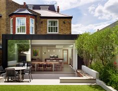 Image 66 - Urban family living - contemporary - Exterior - Other Metro - bulthaup by Kitchen Architecture House Extension Design, Extension Designs, House Design, Extension Ideas, Edwardian House, Victorian Homes, Zinc Cladding, Modern Patio, House Extensions