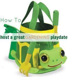 How to host a garden playdate