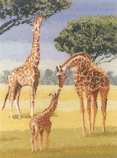 Giraffes - John Clayton Cross Stitch