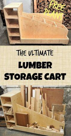 rack móvel de armazenamento de madeira serrada