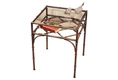 Bamboo Glass Side Table, Bronze on OneKingsLane.com