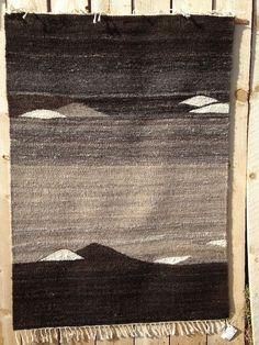 Handwoven rug by Melinda Bateman, hand-spun Churro wool