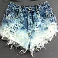16$ Wish | Summer Women Shorts Leisure High Waist Denim Hole Fringe Jeans