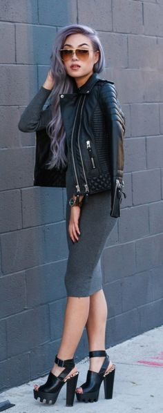 75 Edgy Outfits to Stand Out from the Crowd - #street #style / monochrome