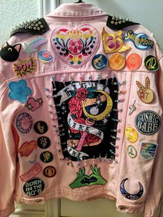 Sailor Moon Punk Jacket – Chell~Bell Craft Source by melisaseki clothes ideas jackets Punk Fashion, Diy Fashion, Ideias Fashion, Fashion Outfits, Punk Outfits, Custom Clothes, Diy Clothes, Customised Clothes, Punk Clothes