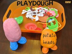 Playdough Potato Heads- kid activity and toddler activity