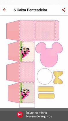 Diy Home Crafts, Jar Crafts, Mickey And Minnie Cake, Paper Gift Box, Ideas Para Fiestas, Party In A Box, Diy Box, Birthday Party Invitations, Craft Gifts