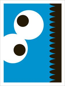 Cookie Monster minimalist screen print by Thom Pastrano
