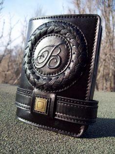 Именное мужское портмоне   handmade