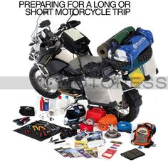 PREPARING FOR A MOTORCYCLE TRIP