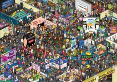 It's like where's waldo for geeks. Your favorite meme or character is in there somewhere.THERE'S SO MANY