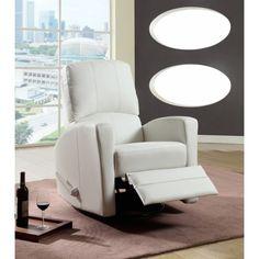 Santa cruz fauteuil inclinable en cuir reconstitu for 1x super comfort recliner chaise
