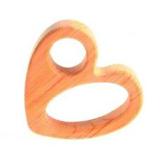 Perfect Valentine's Day gift for a baby! Wooden Heart Grasping Toy/Teether made in Germany. $19.95