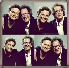 Colin Firth & Geoffrey Rush, Seriously, gentlemen, we should hang out :)