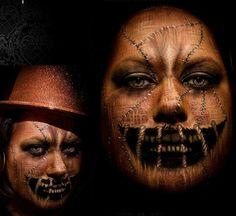 Halloween scarecrow makeup