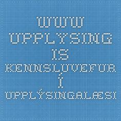 www.upplysing.is - Kennsluvefur í upplýsingalæsi