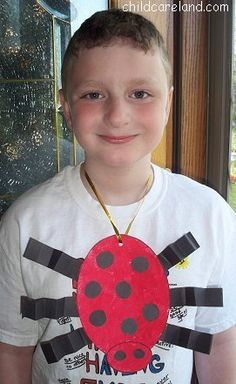 Ladybug Necklace - Pinned by @PediaStaff – Please Visit ht.ly/63sNtfor all our pediatric therapy pins