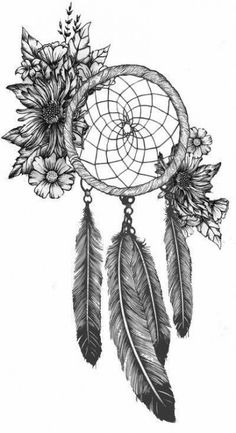 Here& my tat mockup Bailey Bryan ! Dream Catcher Coloring Pages, Dream Catcher Drawing, Dream Catcher Tattoo Design, Mandala Drawing, Mandala Art, Indian Feather Tattoos, Hirsch Tattoo, Sketch Style, Badass Drawings