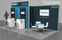 Blackford Analysis - 10x20 Trade Show Display Rental- Check EXHIBITMAX Custom Exhibits, if your needs require a custom designed and built trade show booth