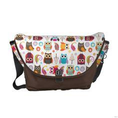 Owl Meeting Rickshaw Messenger Bag but I would use it as a diaper bag :) Pack Your Bags, Messenger Bag Men, Cute Bags, Beautiful Bags, Travel Accessories, Travel Bags, Diaper Bag, Handbags, Owls