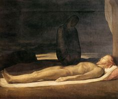 FLANDRIN Jean-Hyppolyte, Pietà, 1842, 172x258cm