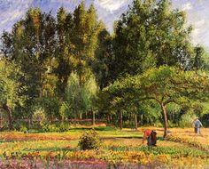 Camille Pissarro, Poplars, Afternoon in Eragny, 1899