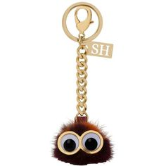 Sophie Hulme 'Dot' Genuine Mink Fur Pompom Bag Charm (€200) ❤ liked on Polyvore featuring accessories y sophie hulme