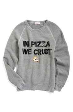 Bow & Drape 'In Pizza We Crust' Sweatshirt available at #Nordstrom