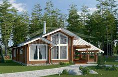 Проекты одноэтажных домов из клееного бруса проекты