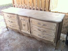cocoa and old white images | Dresser - Annie Sloan Coco & Old White | Furniture Redos