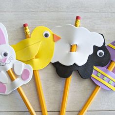 Free templates make these cute fun foam pencil toppers an easy project perfect for kids!