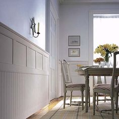The combination beadboard and wainscot would look awesome in the Harbinger, especially in the living room and kitchen!
