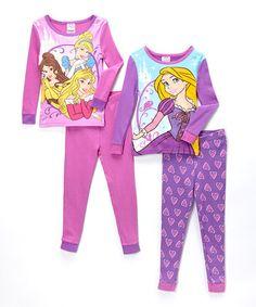 82add8837715 Disney Princess Pink   Purple Princess Pajama Set - Girls