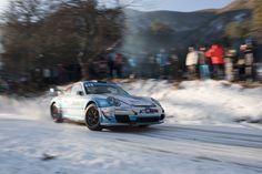 Romain Dumas - Porsche 911 GT3 RS - Rallye Monte Carlo 2017 (Foto: Porsche)