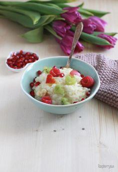 Milchreis mit Früchten zum Valentinstag / Milk Rice with fruit for Valentine's Day