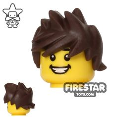 Dark Brown Spiked and Tousled LEGO hair will be suitable as Tracer's hairstyle