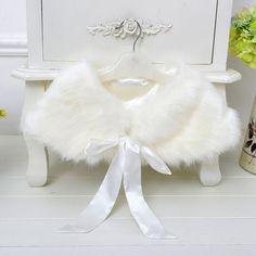 Casaco De Pele longo de Cetim branco Do Casamento Júnior Da
