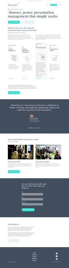 Abstract, poster and presentation management for academic conferences
