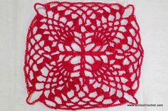 Pineapple Crochet Motif: free crochet pattern with photo tutorial in each step