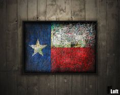 Hand-Painted Flag of Texas-Texas State by ArtForLoft on Etsy
