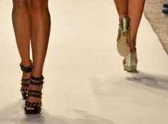 "Paloma Barcelo ""stiletto"" wedges at Fashion Week Swim, Miami, July 2013"