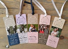 These bookmarks are a great way to have people save the date. They can add it to their favorite book, and each time they open it, they will